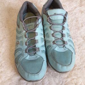 3/$30 Champion Memory foam aqua sneakers size 9
